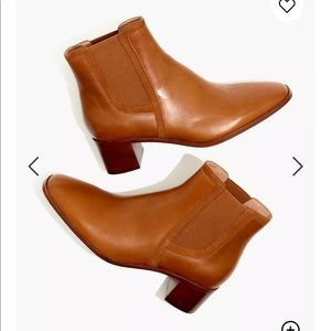 New Madewell Serena square toe Chelsea boots